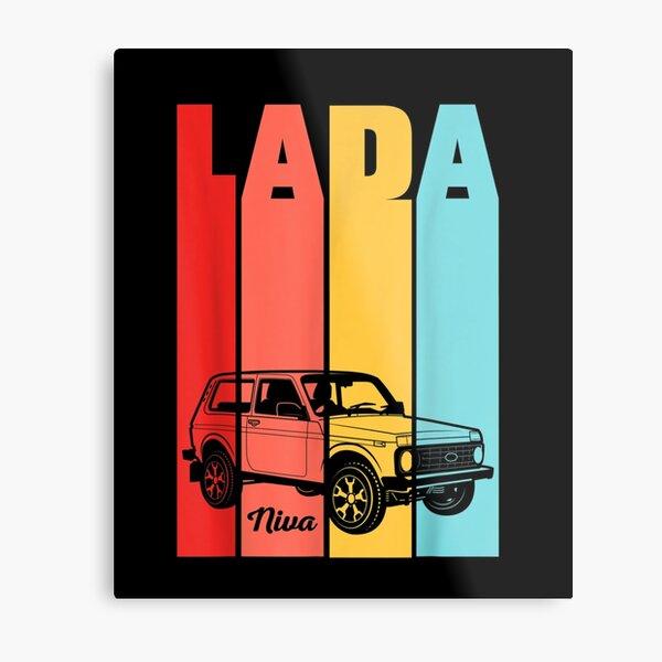 Lada-Niva-Offroad-Vaz-Russias Metal Print
