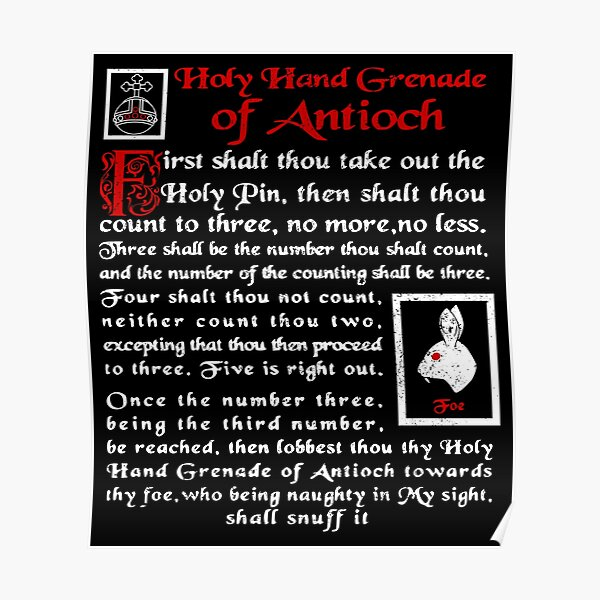 The Holy Hand Grenade of Antioch Poster