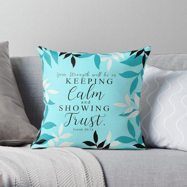 Yeartext 2021 - Tropical sky blue Design Throw Pillow