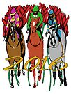 Kentucky Derby 2016 Racehorses by Ginny Luttrell
