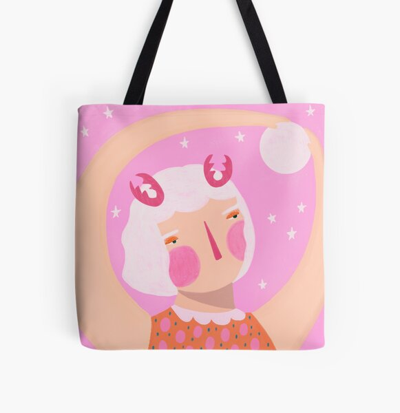 Reach for the moon All Over Print Tote Bag