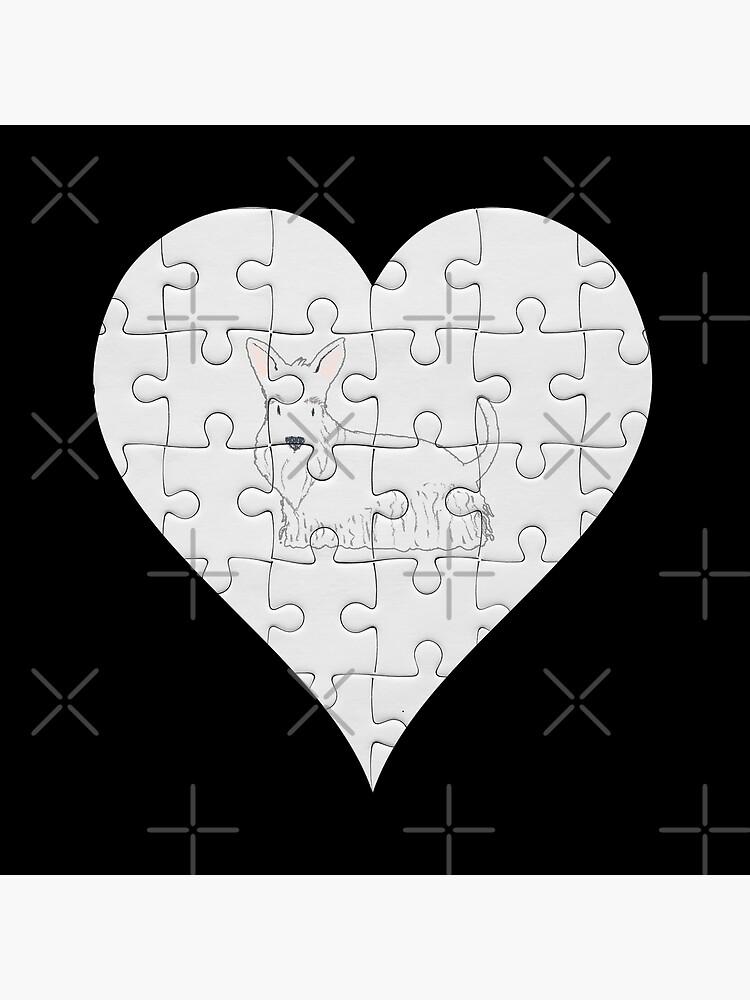 Scottish Terrier Heart Jigsaw Pieces Design - Scottish Terrier by dog-gifts