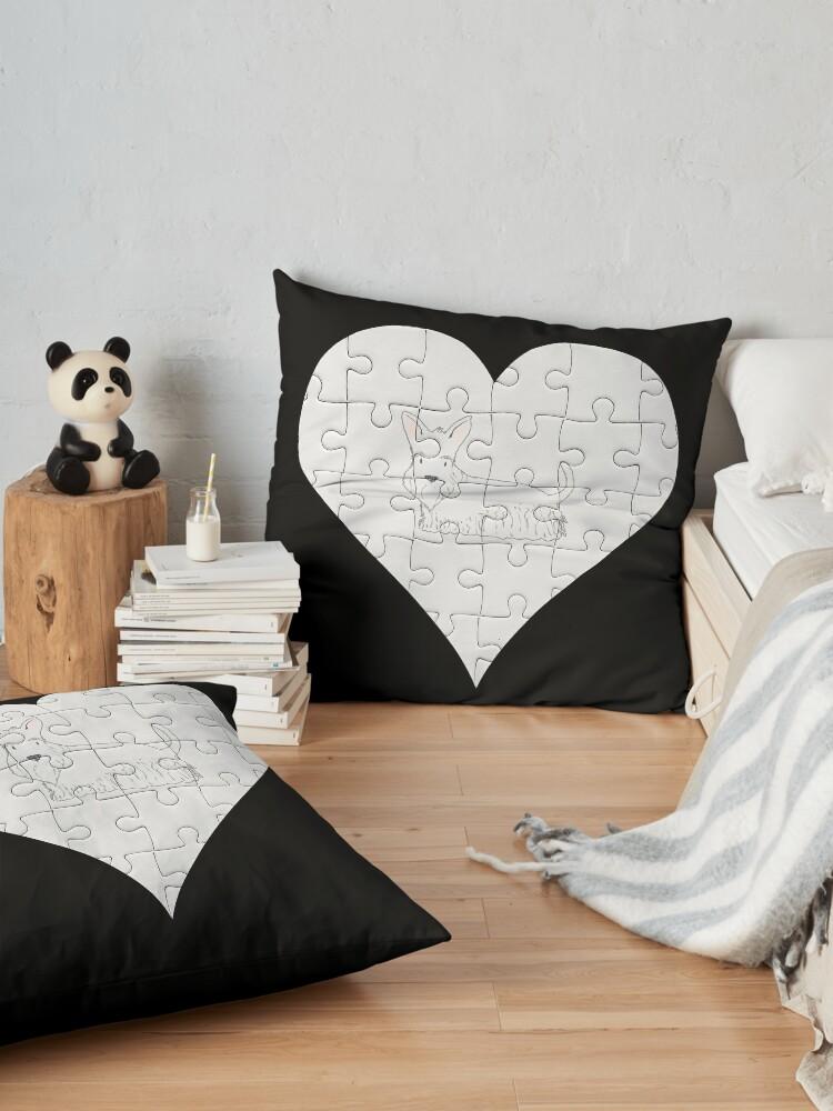 Alternate view of  Scottish Terrier Heart Jigsaw Pieces Design - Scottish Terrier Floor Pillow