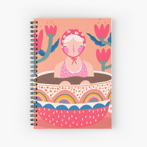 Jump in the tea is warm Spiral Notebook