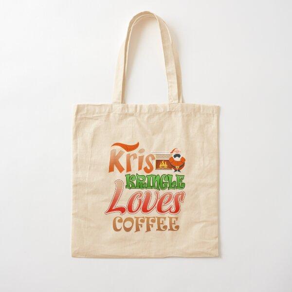 Kris Kringle Loves Coffee Cotton Tote Bag