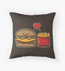 Burger und Pommes Dekokissen