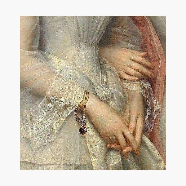 Sapphic Hands Painting Photographic Print