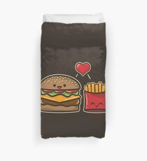 Burger and Fries Duvet Cover