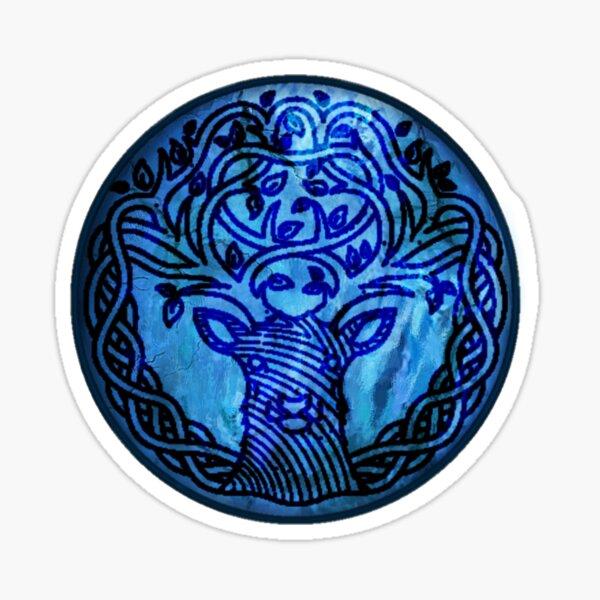 Ancient Celtic Stag Symbol  Sticker
