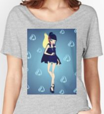 Blue Flame/Fire Fairy Drawing - (Designs4You) Women's Relaxed Fit T-Shirt