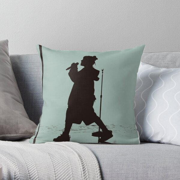 BILLIE EILISH SILHOUETTE Throw Pillow