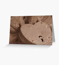 Love Locked on Palace Bridge Greeting Card