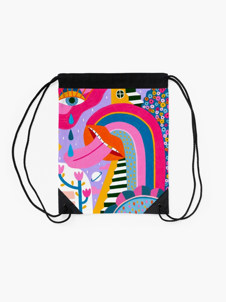 Alternate view of All the things Drawstring Bag
