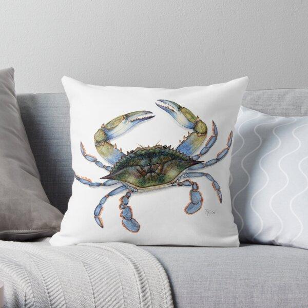 Atlantic Blue Crab Throw Pillow