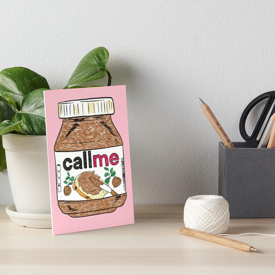 Call Me - Baby Pink Art Board Print