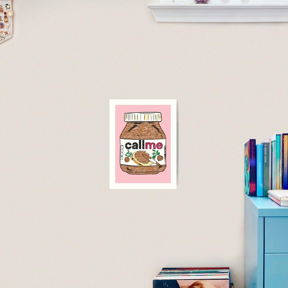 Call Me - Baby Pink Art Print