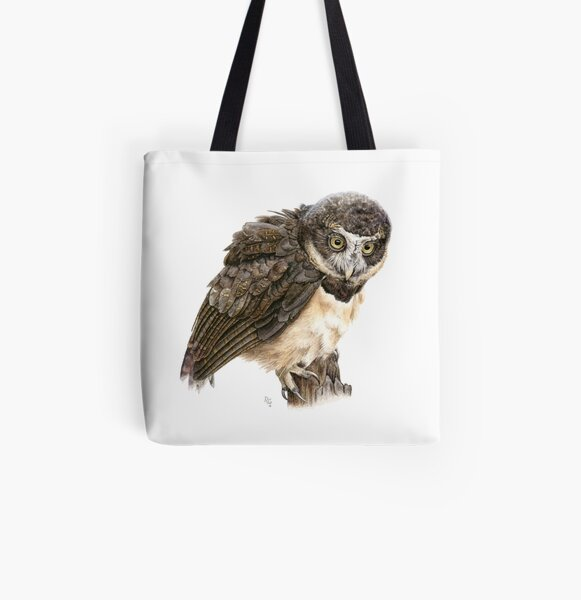 Spectacled Owl All Over Print Tote Bag