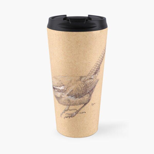 Carolina Wren Sketch Travel Mug