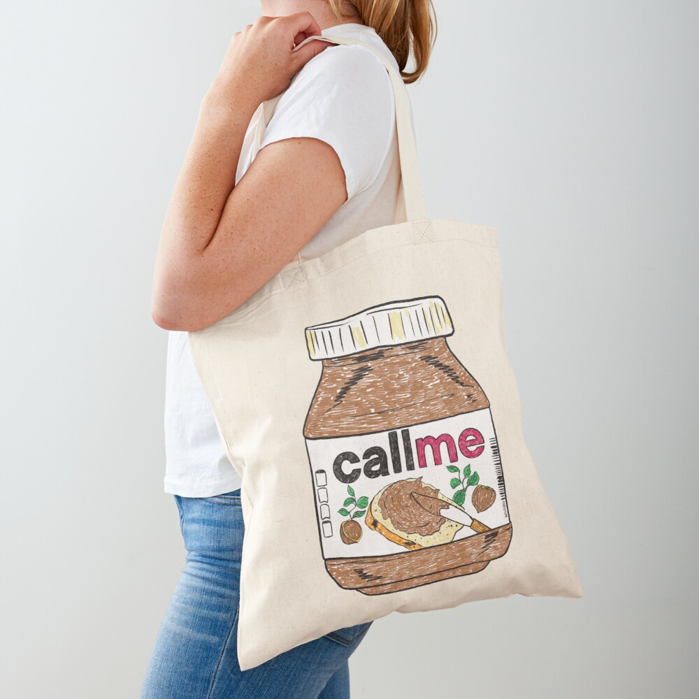 Call Me - Black Tote Bag