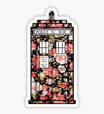 Floral TARDIS 2 Sticker
