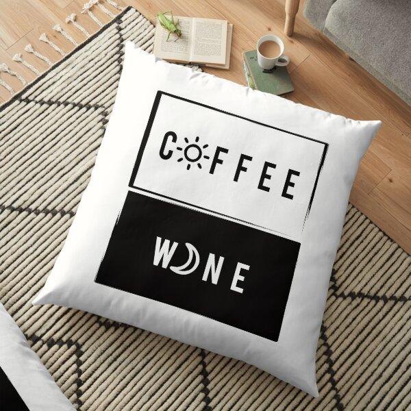 Wine & Coffee Floor Pillow