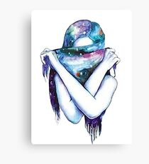 Galaxy Girl Canvas Print