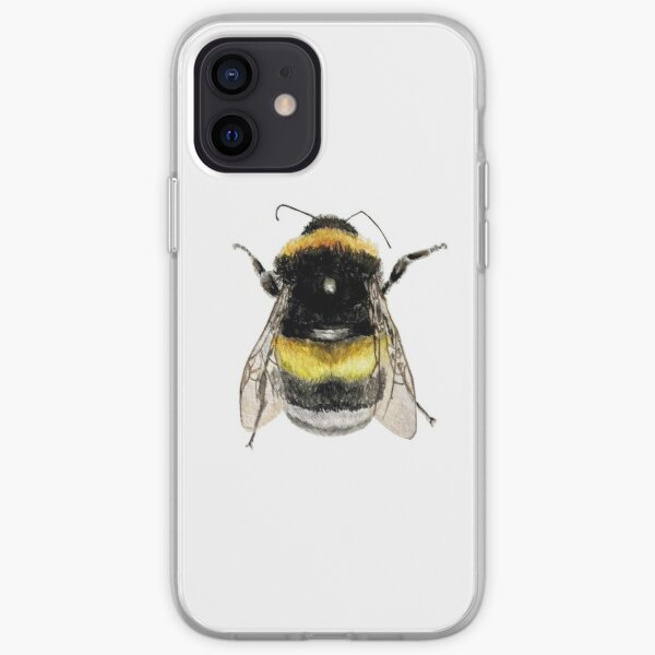 Bumble Bee Watercolour iPhone Soft Case