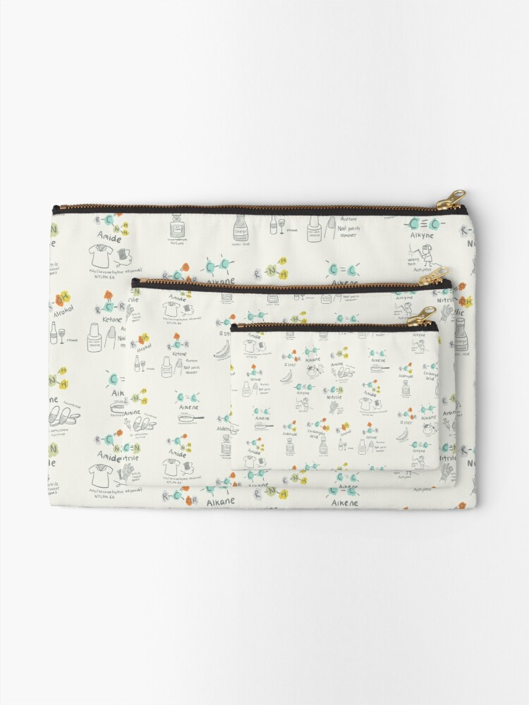Alternate view of Molecules of Life Zipper Pouch