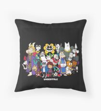Undertale - All characters Throw Pillow