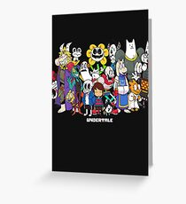 Undertale - All characters Greeting Card