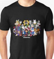 Undertale - All characters Slim Fit T-Shirt