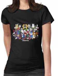 Undertale - All characters Womens Fitted T-Shirt