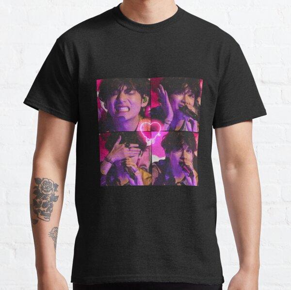 Bts Taehyung pink neon aesthetic  Classic T-Shirt