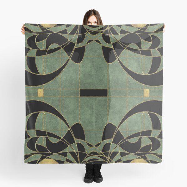 Belle Epoque Artdeco gift in abstract decadent art nouveau design vintage mosaic pattern summer Scarf