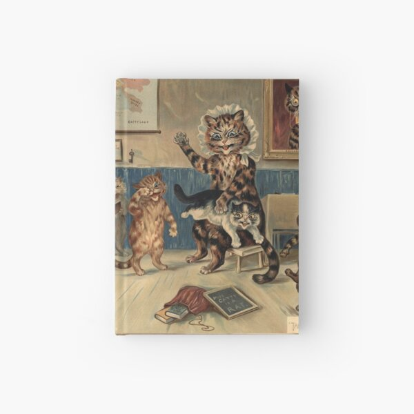 The Naughty Puss by Louis Wain Hardcover Journal