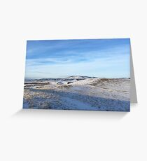 Snow Cocered Wheat Fields Photography Print Greeting Card