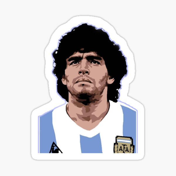 Maradona Pegatina
