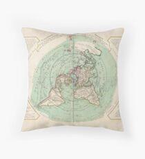 AE MAP Flat Earth Throw Pillow