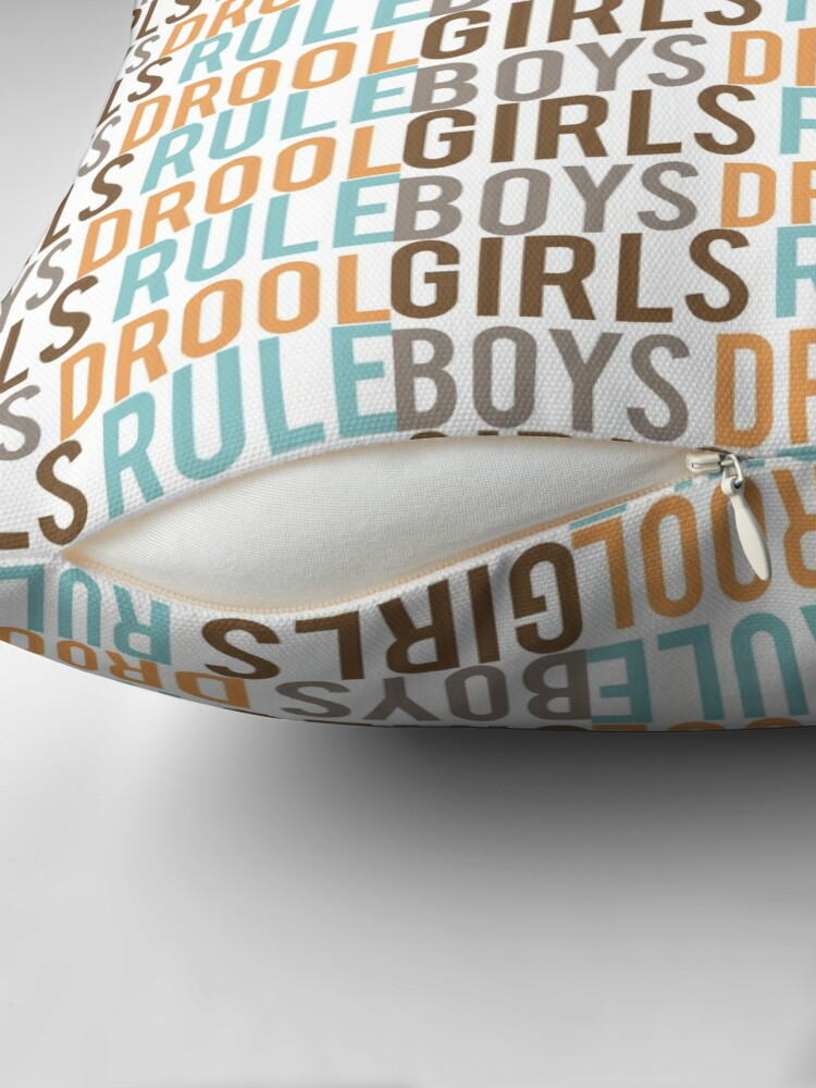 Alternate view of Girls Rule & Boys Drool Floor Pillow
