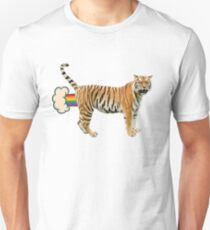 Giant Realistic Flying Tiger T-Shirt