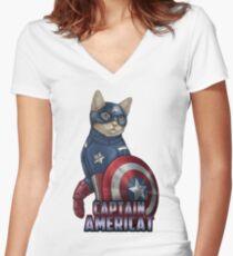 Captain Americat Women's Fitted V-Neck T-Shirt