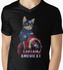 Captain Americat Mens V-Neck T-Shirt