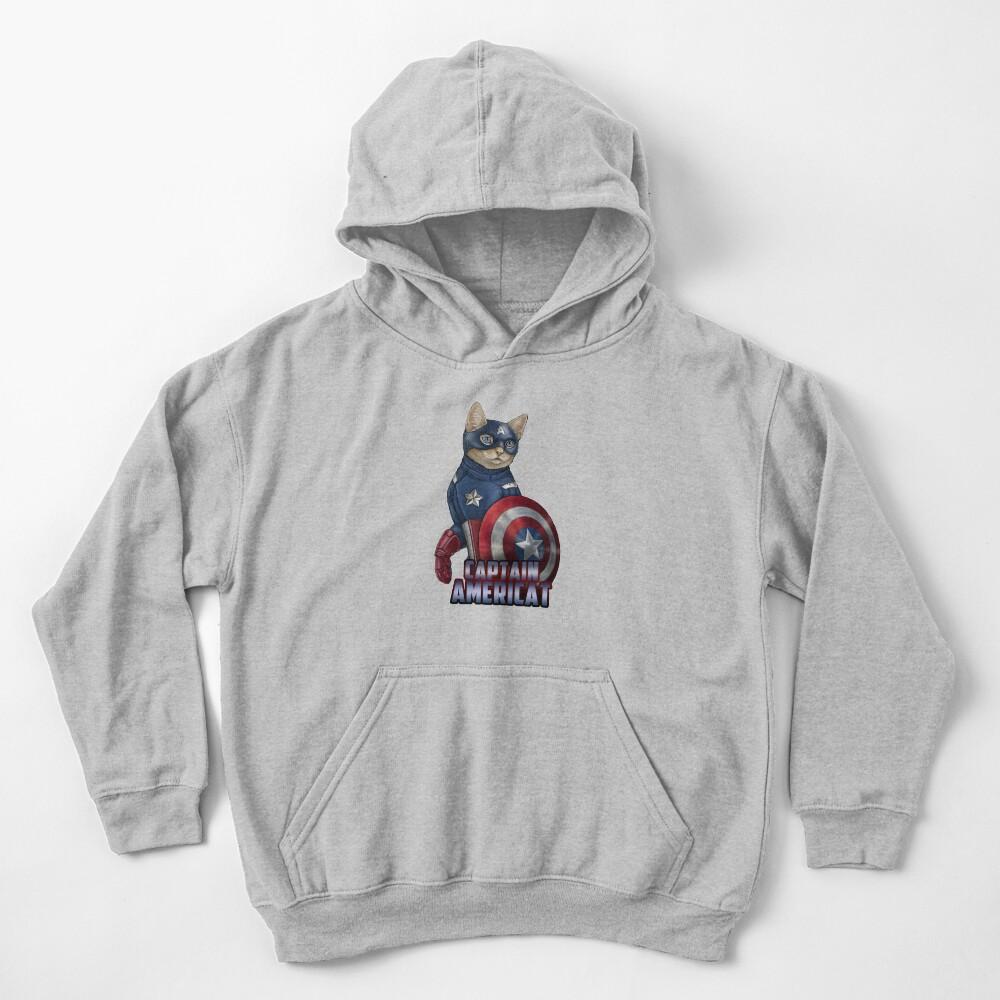 Captain Americat Kids Pullover Hoodie