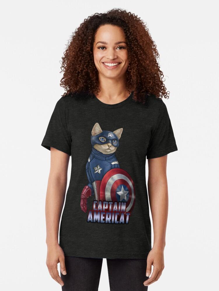Alternate view of Captain Americat Tri-blend T-Shirt