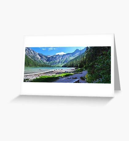 Avalanche Lake - Glacier National Park Greeting Card