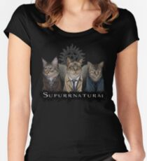 Supurrnatural Women's Fitted Scoop T-Shirt