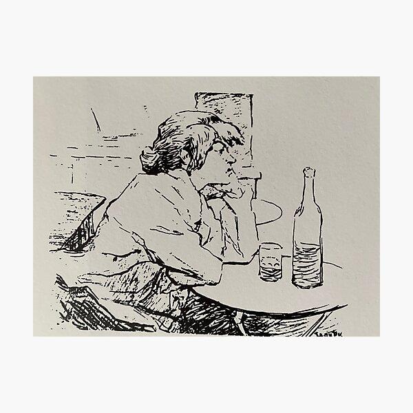 The drinker, Suzanne Valadon Photographic Print