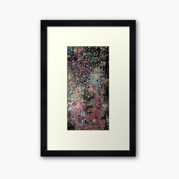 Abstract Painting 082920.3, Dark Rainy Bokeh Framed Art Print