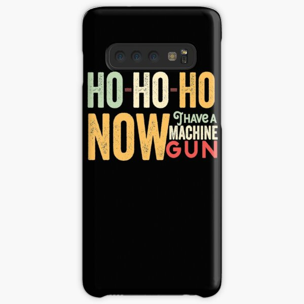 Ho ho ho now i have a machine gun - Die Hard Xmas Jumper for holiday party lovers  Samsung Galaxy Snap Case