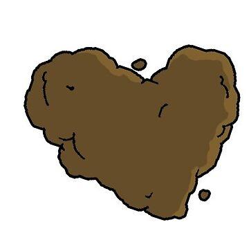 Poop Heart by LaurArt